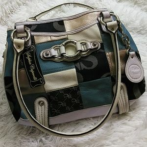 Sophia Caperelli Leather & Denim Patchwork Purse